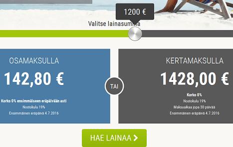 Ekstraluotto.fi Luottolaskuri